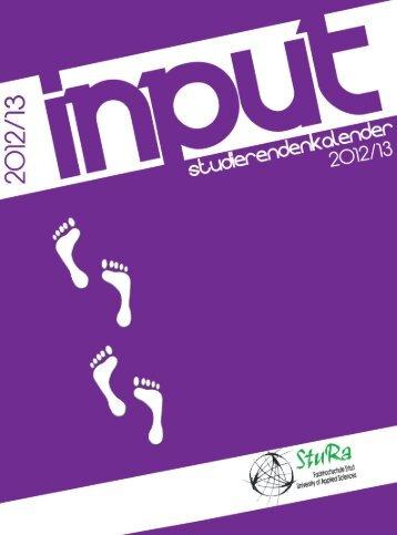 input Kalender 2012/13 FH Erfurt