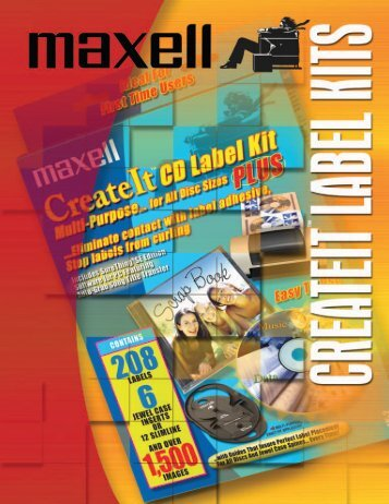 Createit Label Kits - Maxell Canada