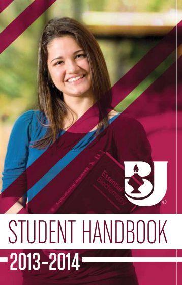 2013-14 Student Handbook - Bob Jones University