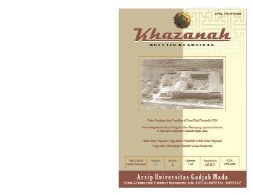 Buletin Khazanah Juli 2011 - Arsip UGM - Universitas Gadjah Mada