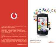 User manual Vodafone Smart II Uživatelská příručka