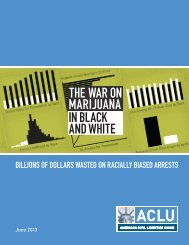 THE WAR ON MARIJUANA IN BLACK AND WHITE - ACLU