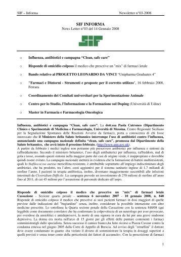SIF Informa - Newsletter 03 del 14-01-08