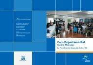 2-Doc-Foro Departamental.pdf - Plan Estratégico de Malargüe