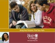Regis Viewbook 09 - Regis College