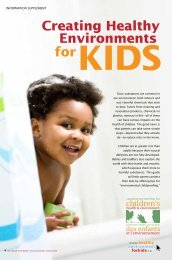 Creating Healthy Environments for kids - Canadian Partnership for ...