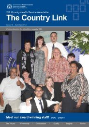 MO12a Country Link Autumn 2011 - WA Country Health Service