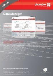 Data Manager - Broadcast Bionics