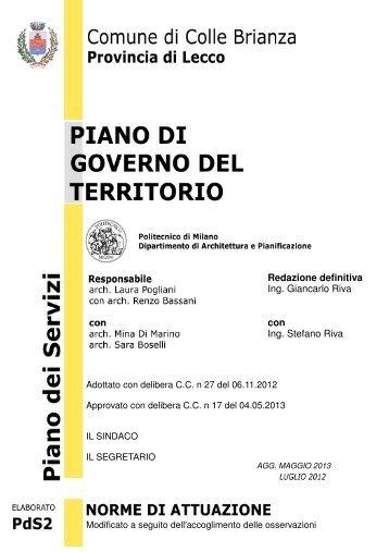 Redazione definitiva Ing. Giancarlo Riva con Ing. Stefano Riva