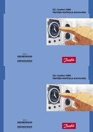 ECL Comfort 100M Käyttäjän käsikirja ja asennusohje ECL Comfort ...