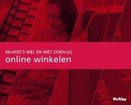 online winkelen - McAfee