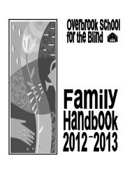 Overbrook School for the Blind Family Handbook
