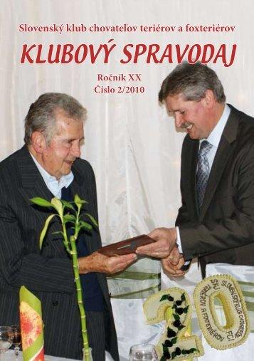 klubový spravodaj - Slovenský klub chovateľov teriérov a foxteriérov