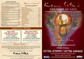 The Food oF Love - Kama Sutra Restaurant Group