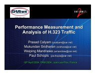 Performance Measurement and Analysis of H.323 Traffic ...