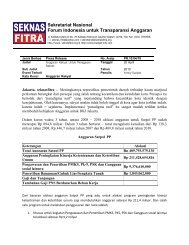 Sekretariat Nasional Forum Indonesia untuk ... - Seknas Fitra
