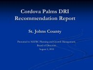 Cordova Palms DRI Recommendation Report - Northeast Florida ...