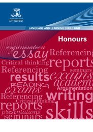 Honours - Student Services - University of Melbourne