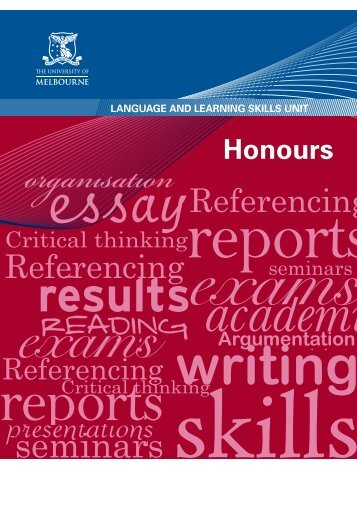 Honours - Student Services - University of Melbourne