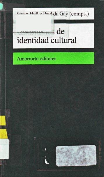 Hall 1996 Cuestiones de identidad cultural