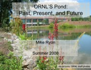 ORNL Pond; Past, Present, and Future