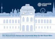 Der ökonomische Nutzen der Universität Wien für den Raum Wien
