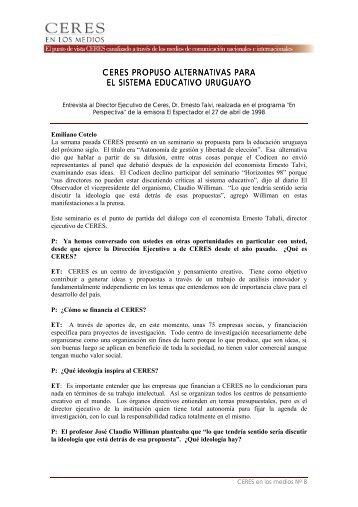 Ceres propuso alternativas para el sistema educativo uruguayo