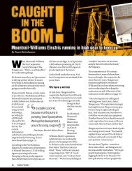 Caught in the boom! - Basin Electric Power Cooperative