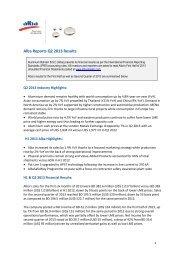 Alba Reports Q2 2013 Results (PDF) - Aluminium Bahrain