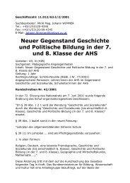 Neuer Gegenstand Geschichte und Politische Bildung in der 7. und ...