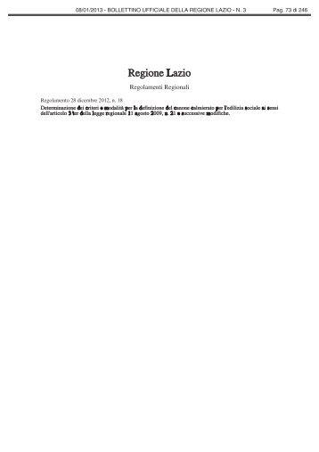 Regolamento 28 dicembre 2012, n. 18 - Comune di Alatri