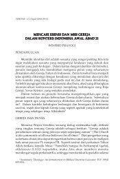 mencari esensi dan misi gereja dalam konteks indonesia ... - SAAT