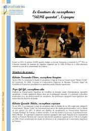 Le Quatuor de saxophones