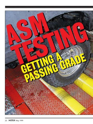 ASM TESTING - MOTOR Information Systems