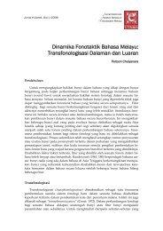 Dinamika Fonotaktik Bahasa Melayu: Transfonologisasi Dalaman ...