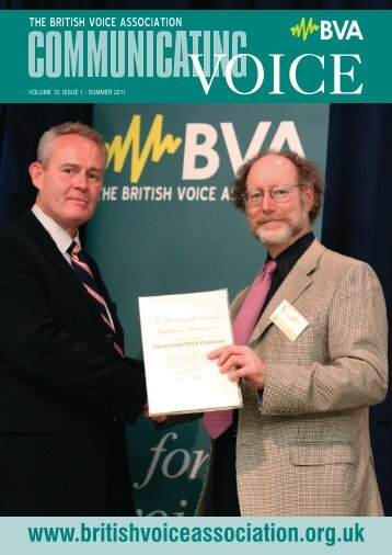 Issue 1, Summer 2011 - British Voice Association