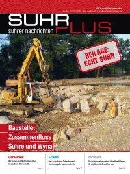 Baustelle: Zusammenfluss Suhre und Wyna BEILAGE: ECHT SUHR