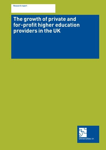 The growth of private and for-profit education ... - Universities UK