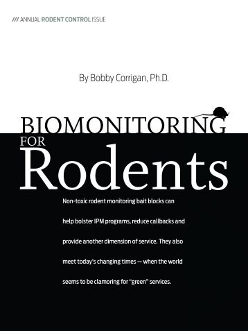 Biomonitoring for Rodents - Bobby Corrigan, P.h.d. - Bell Laboratories