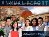 Highlights of Projects and Programs for the Programming - American ...