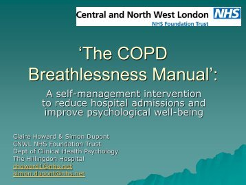 'The COPD Breathlessness Manual': - London Health Programmes