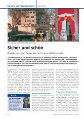 Sicher und schön - Brandschutz für Baudenkmal, Kirche und Altbau