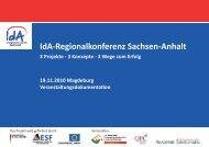 Ida-Regionalkonferenz Sachsen-Anhalt - Europäischer Sozialfonds ...