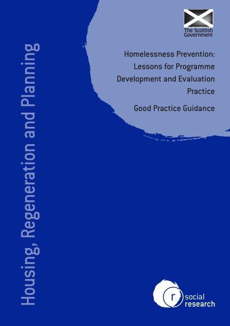 Homelessness Prevention - Scottish Government