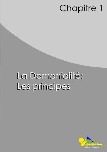 Principes de domanialité