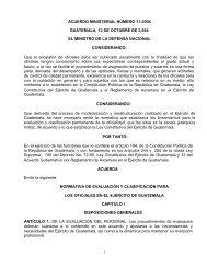 acuerdo ministerial número 11-2004 - Ministerio de la Defensa de ...