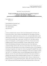 Predigt von Bischof Dr. Franz-Josef Overbeck im ... - Die Wolfsburg