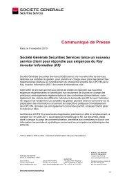 KII - Société Générale Securities Services