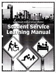 Service Learning manual and Documentation - Long Beach Unified ...