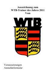 Ausschreibung und Bewerbungsformular - WTB
